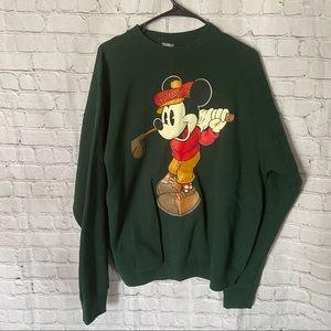Vintage Mickey Mouse Golf Disney crewneck XL